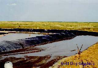 Oil on the Mud Pits